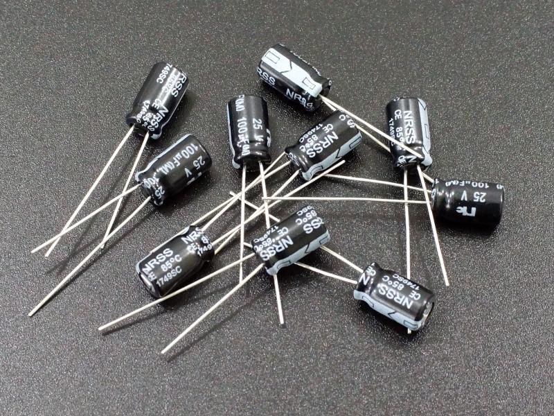 Cap Electrolytic 100uF 25V qty 10