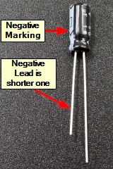 Electrolytic Capacitor Polarity Marking
