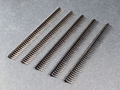 Header Male 1 x 40 Single-Row 5-Pack