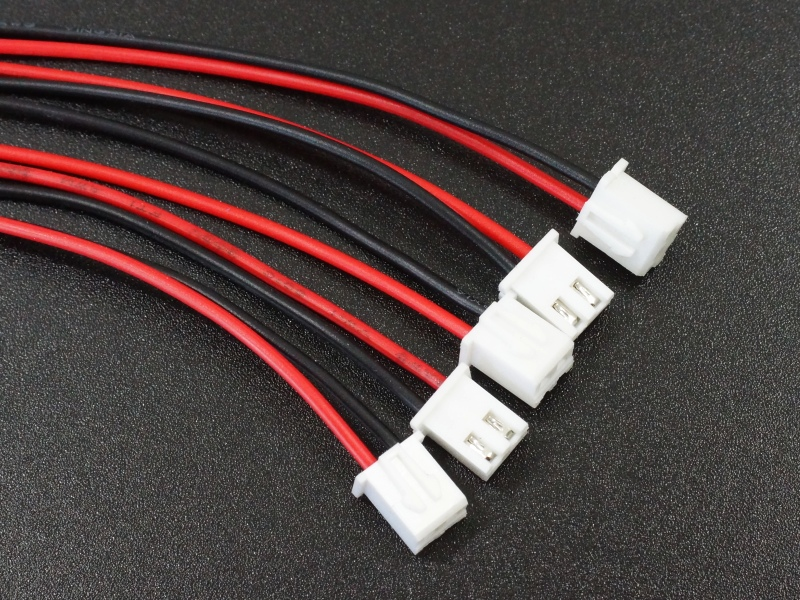 JST XH 2.54 2-pin female pig-tail cable Qty-5