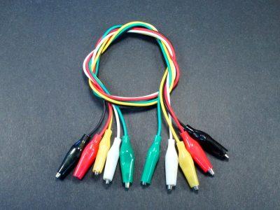 Jumper Cable, Alligator Clips, 5-Pack
