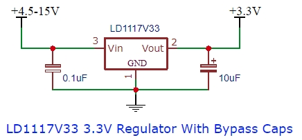 LD1117V33 schematic example