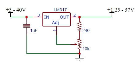 LM317 Example Schematic