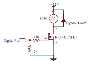 N-CH MOSFET Logic Level Circuit