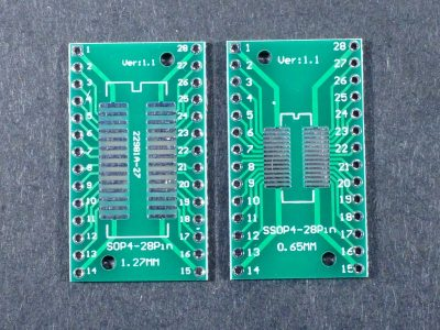 SMD SOP28 SSOP28 to DIP Adapter Top and Bottom