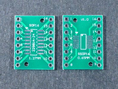 SMD SOP16 SSOP16 to DIP Adapter Top and Bottom