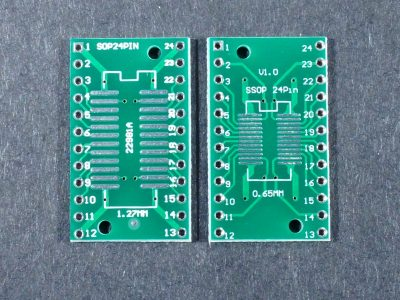 SMD SOP24 SSOP24 to DIP Adapter Top and Bottom