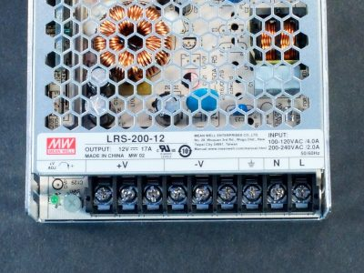 Power Supply LRS-200-12 Connections