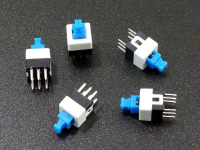 Switch Latcing PB DPDT 5-Pack