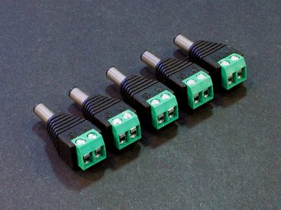 DC Power Jack Adapter Male 5-Pack