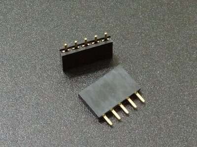 Header Female 1 x 5 Single-Row 2-Pack
