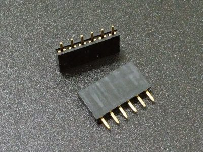 Header Female 1 x 6 Single-Row 2-Pack