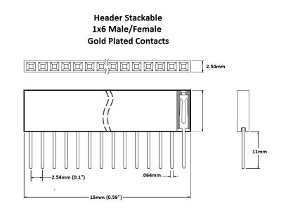 Header Stackable 1x6 Gold Details