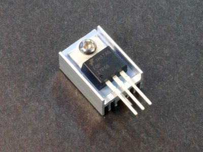 Heatsink Ext Aluminum TO-220 Assembly Shown with Power MOSFET