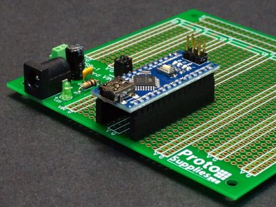 Nano on MCU Proto Board with DC Input