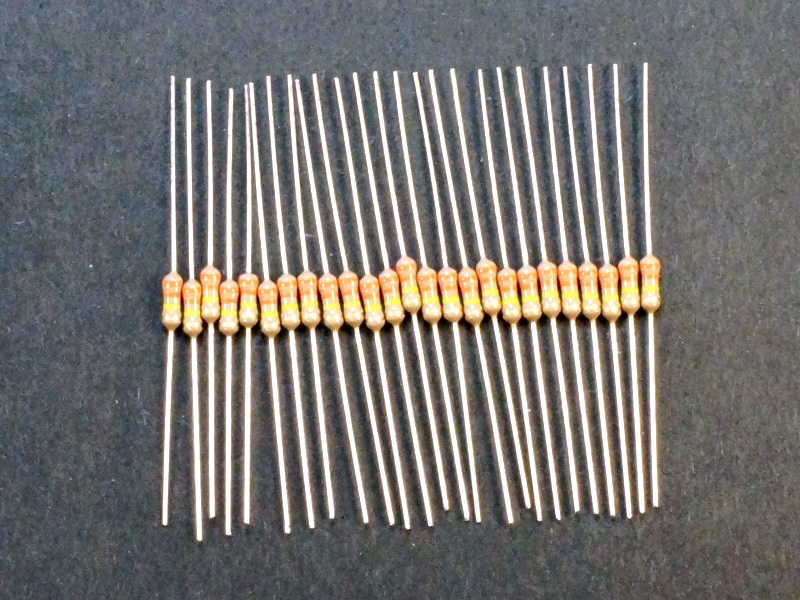 Resistenza Resistore 330K 330Kohm 1//2W 5/% carbone lotto di 20 pezzi