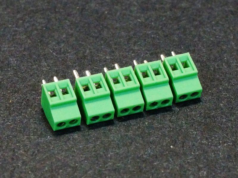 Screw Terminals 2.54mm 2 Pin 5-Pack