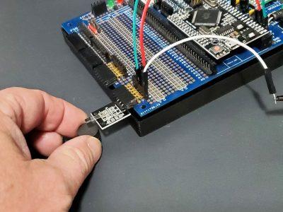 49E Analog Hall Effect Sensor Module - In Use