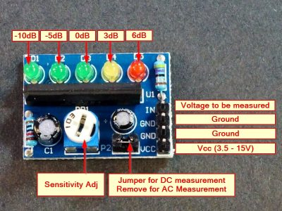 KA2284 Voltage Level Indicator Module Connections
