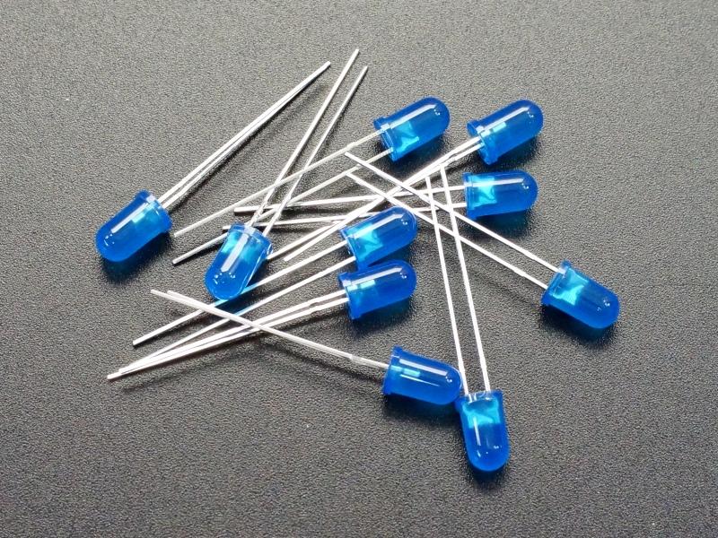 LED 5mm Blue 10-Pack