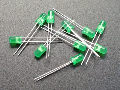 LED 5mm Green 10-Pack