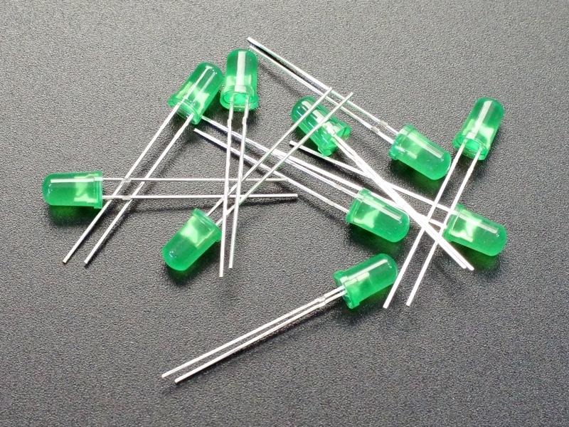 LED 5mm Green 10-Pack