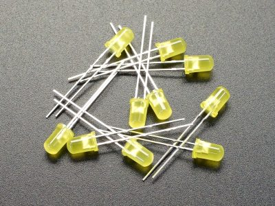 LED 5mm Yellow 10-Pack