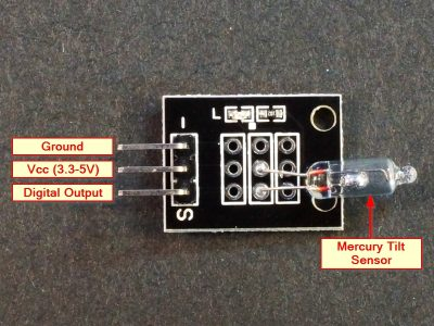Mercury Tilt Switch Module Connections
