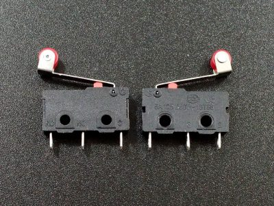 Microswitch with Roller Lever SPDT 5A - Side Views