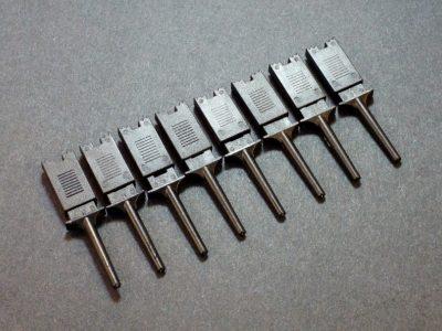Test Clip Pincher Grip Black 8-pack