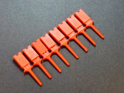 Test Clip Pincher Grip Red 8-pack