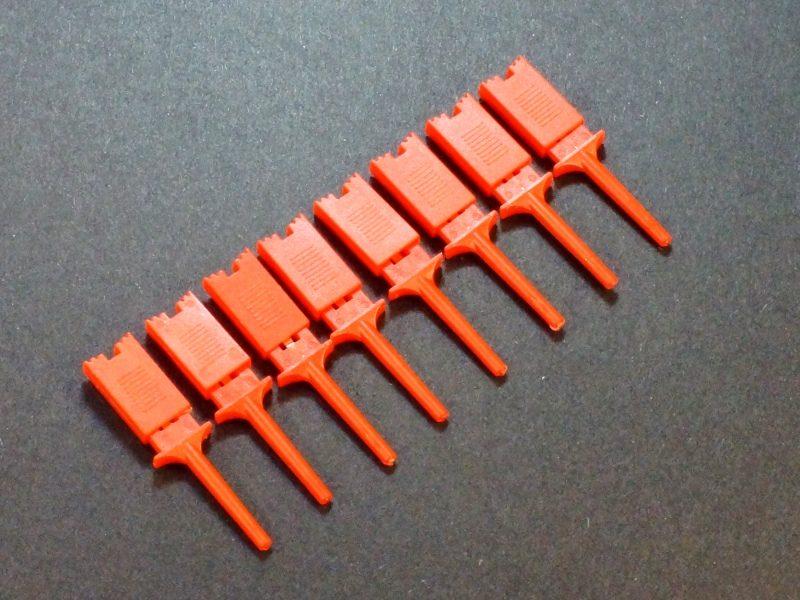 Test Clip Pincher Grip Red 8-pack