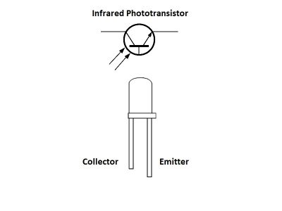 Infrared Phototransistor Diagram