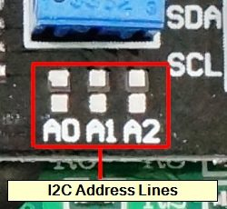 LCD I2C Address Jumpers
