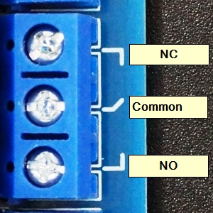 Relay Module 8 x 5V - Relay Connections