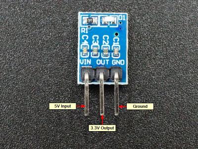 AMS1117 5V to 3V Regulator Module - Connections