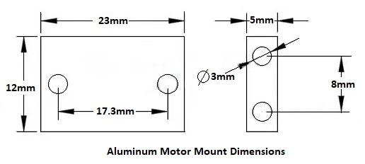Aluminum Motor Bracket Dimensions