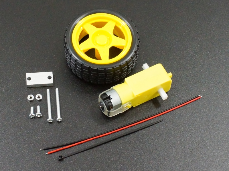 DC Geared Motor and Wheel Set