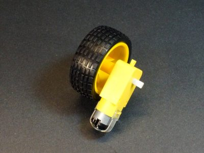 DC Geared Motor and Wheel Set - Mounted