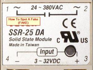 Fotek SSR-25D Fake