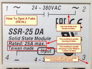 Fotek SSR-25D Real vs Fake