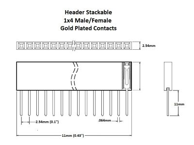 Header Stackable 1x4 Gold Details