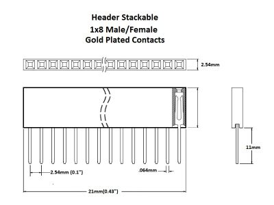 Header Stackable 1x8 Gold Details