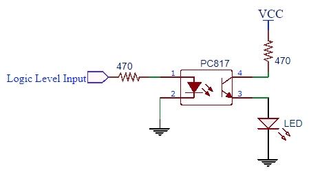 PC817 Schematic