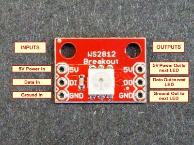 WS2812 Addressable LED Breakout Module - Connections
