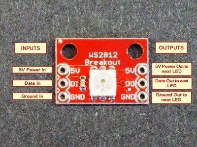 WS2812 Addressable LED Breakout Module - Connections