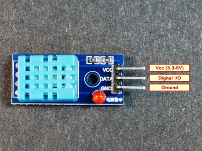DHT11 Humidity Temperature Module - Connections