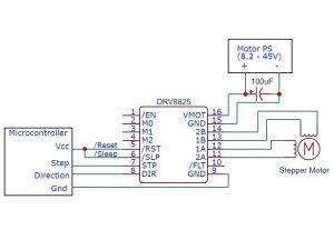 DRV8825 Driver Minimal Setup Schematic