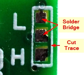 HC-SR501 PIR Motion Sensing Module - Solder jumper