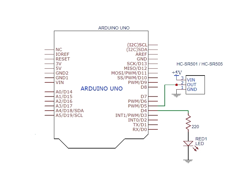 hc-sr501 pir motion sensing module